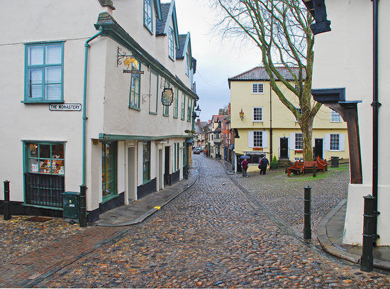 ‪نورويتش, UK: Elm Hill, Norwich.  Cobbled streets - An olde worlde shopping experience‬