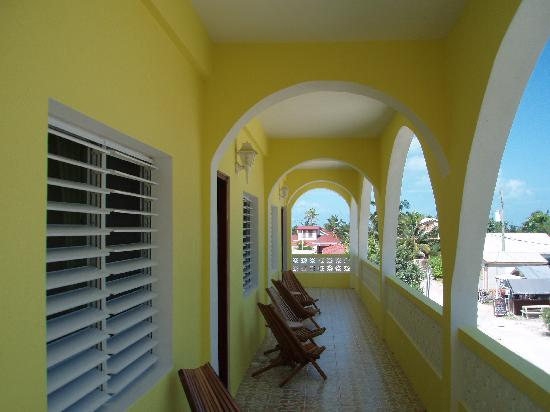 Pancho's Villa: View of the front balcony