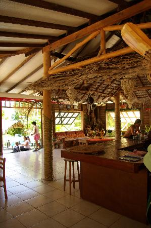 Pension Paparara : salle à manger commune