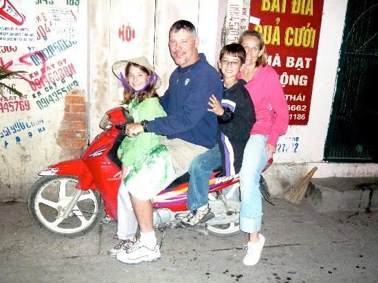 Hanoi Elegance Ruby: Us on the manager's motor bike