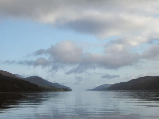 Loch Ness Region, UK: View of Loch Ness from the garden of the old Monastery at Fort Augustus