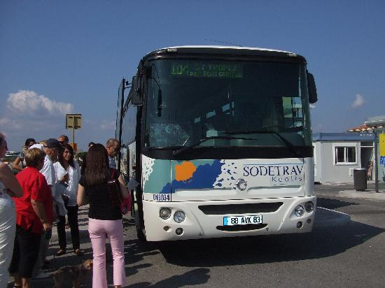 Hotel Brise de Mer: Taking the bus to St.Tropez