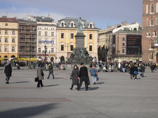 Cracovia, Polonia: Market Square, Krakow