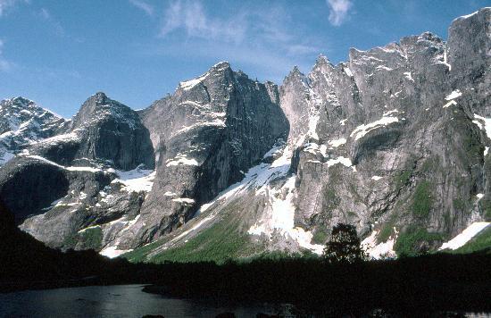 Trollsvegen cliff, near Andalsnes