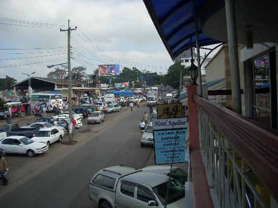 Hotel Aquiline : Street from restaurant balcony