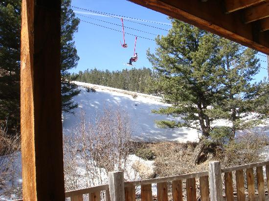BEST WESTERN Rivers Edge: view from room of chairlift 03/2009