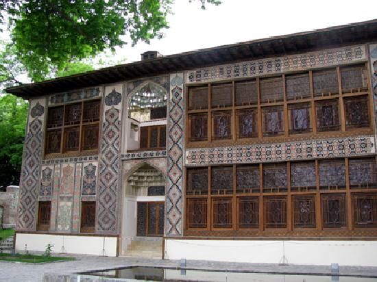 Sheki, Azerbaijan: The front of the Khan's Palace
