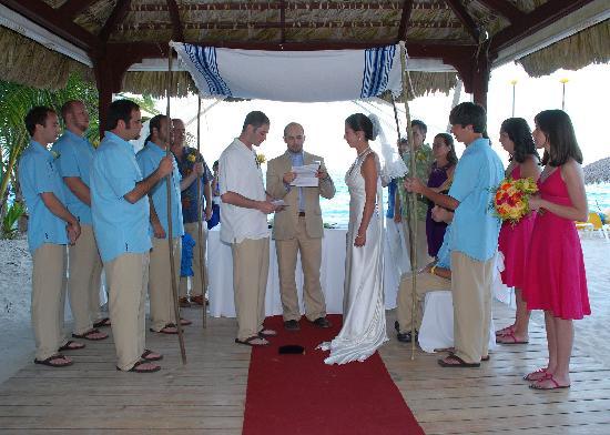 Iberostar Punta Cana Our Families Us Under The Wedding Hut