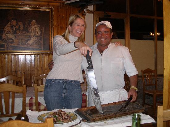 Ristorante Da Filippo: My wife with the cook