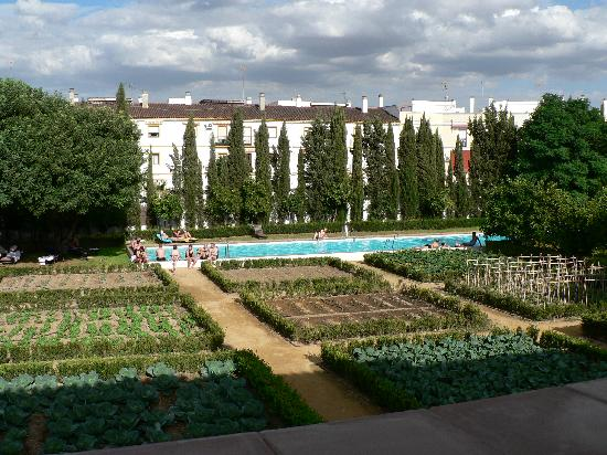 Monasterio de San Francisco: Large vegie garden & large pool