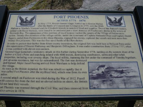 Fort Phoenix State Reservation: Fort Phoenix History