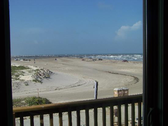 El Constante Beachfront Condominiums: View from side balcony