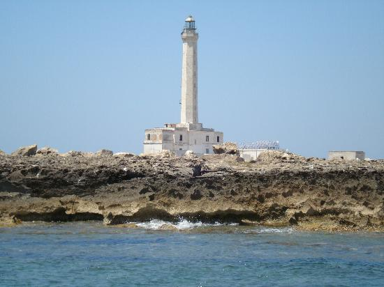 The Lighthouse Island Sant'Andrea (in front of Gallipoli)
