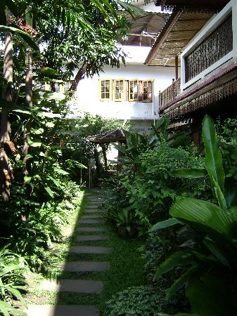 Libra Guest House: The garden behind the guesthouse
