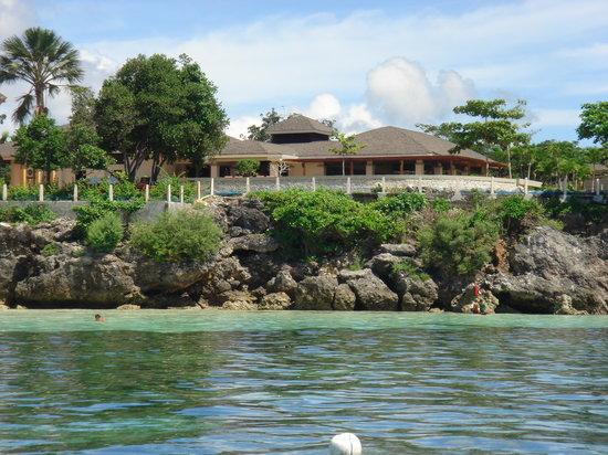 Amorita Resort: Looking back at Resort from sea