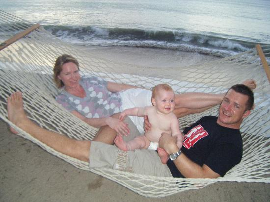 relaxing at the Villa Beach Cottages