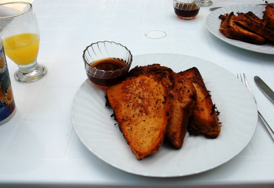 Lobster Pot: coconut bread french toast