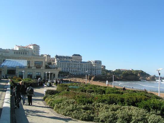 Amaia Biarritz hotel: plage en hiver