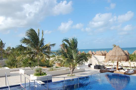 Beloved Playa Mujeres: View of the beach and pool from Isla Grill
