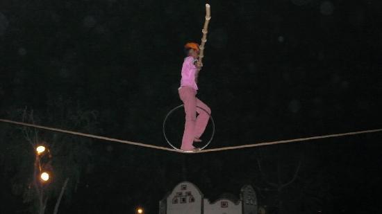 Chokhi Dhani Resort: Tightrope walker at Chokhi Dhani Village