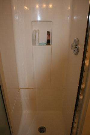 Darnell's Lake Resort: tiny shower stall