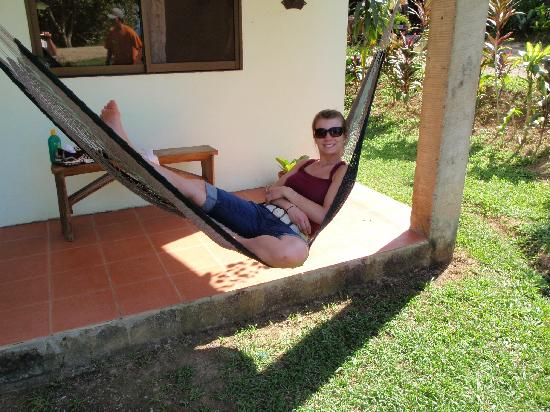 Casita Corcovado: relaxing on the front porch