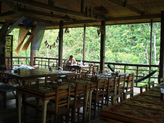 Nuts Huts Resort : Beautiful Nuts Huts restaurant overlooking the Loboc River