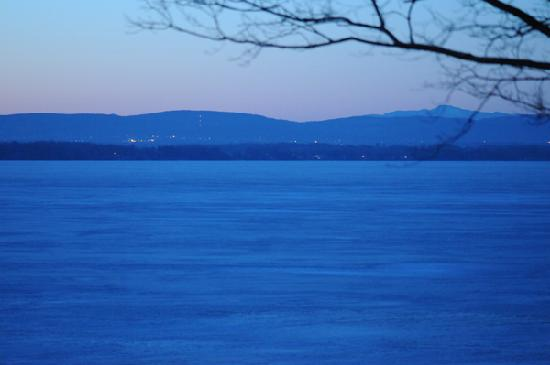 Swanton, VT: Sunrise on Lake Champlain (from our bedroom)