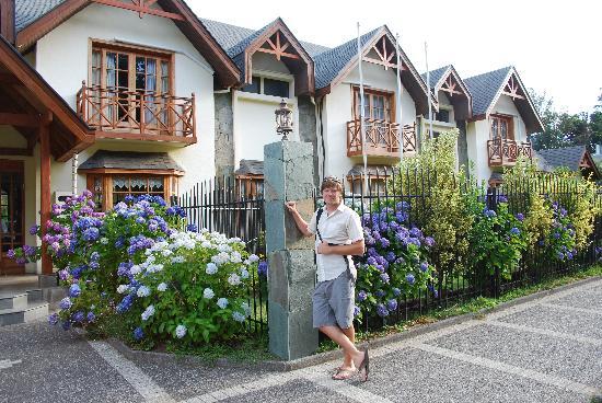 In front of Hotel Huincahue