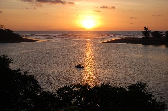 Casa Caletas: sunset over the estuary