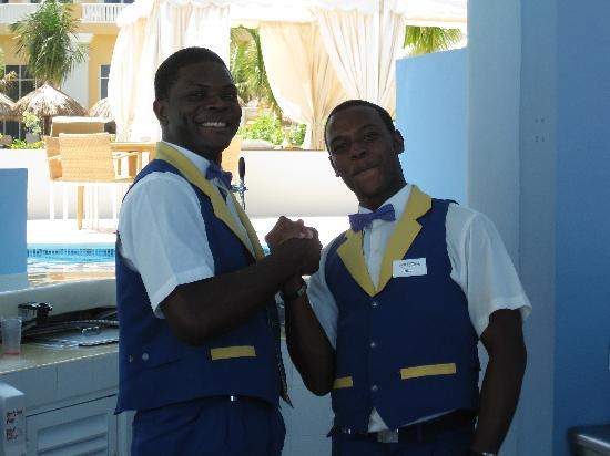 Iberostar Grand Hotel Rose Hall: Nigel and Theodore at Pool Bar