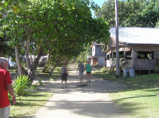 Village View Resort: Walking back to the bungalows from the restaurant