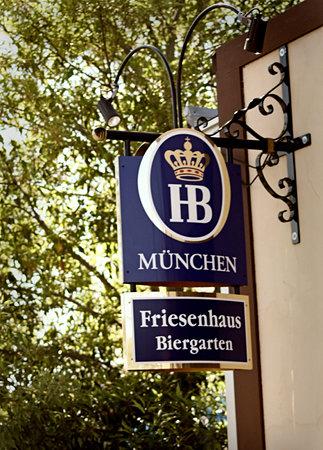 Friesenhaus: Sign outside the restaurant