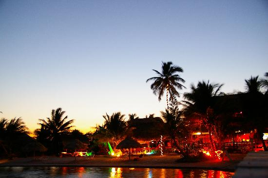 Capricorn Resort: Capricorn at night -- a view from the dock
