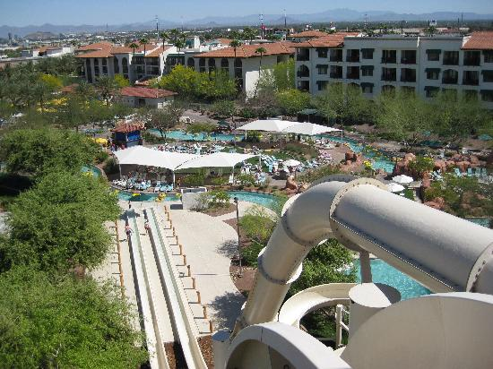 Arizona Grand Resort & Spa: View from the top of water slide