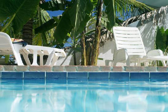 Hotel Nahua: Photo in the pool, from a previous visit to Nahua