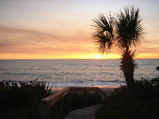 Manasota Beach Club: Sunset view from the Club