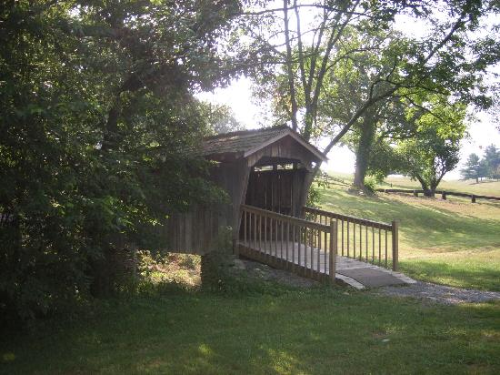 Lincoln Homestead State Park: Covered bridge