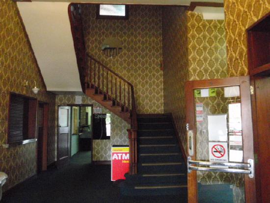 Royal Hotel: Main Entry with rooms up the stairs