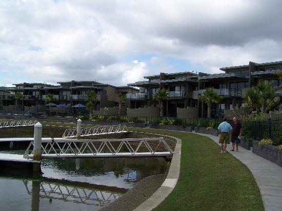 Sovereign Pier on the waterways: outdoor view of apartments