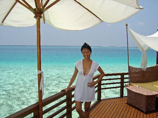 Baros Maldives: View from sundeck of room 306
