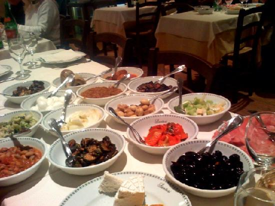Osteria de Memmo I Santori: Here is some of the antipasti we were served...