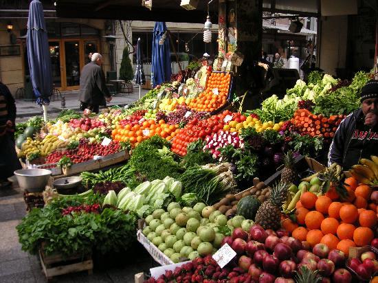 I'zaz Lofts: Fruit and vegetable store on the Balik Sokak