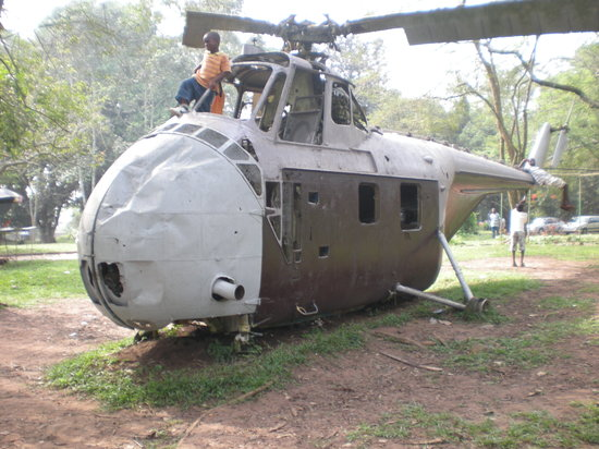 Acra, Ghana: Helicoper in the garden