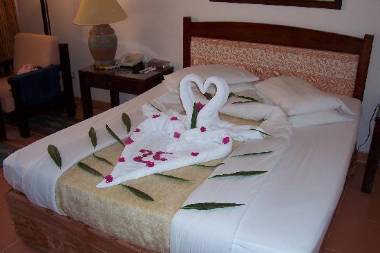 Coral Sea Sensatori   Sharm El Sheikh  Bed decoration. Bed decoration    Picture of Coral Sea Sensatori   Sharm El Sheikh