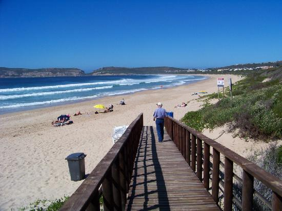 Cottage Pie is just across the street from beautiful Robberg Beach