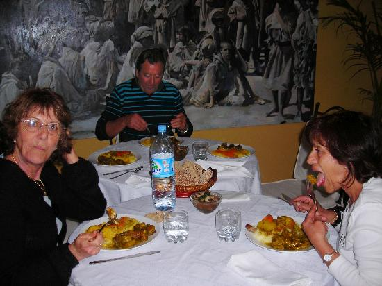Riad Aguaviva: apres l'effort,le reconfort,nous apprecions la bonne cuisine !!!