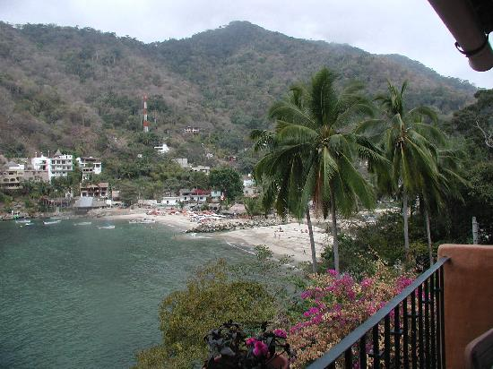 Boca de Tomatlán, México: My View of Beach From My Wonderful Room