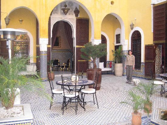 Riad Le Calife: The riad courtyard