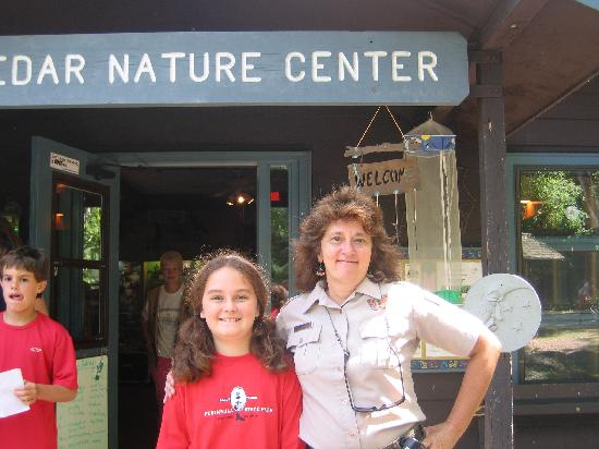 Fish Creek, WI: my duaghter and kathleen in front of the nature center